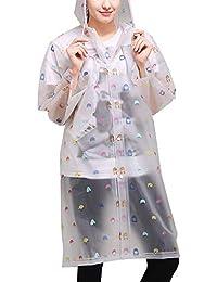 3678e3f00b5c98 Laisla fashion Wiederverwendbar Wasserdicht Schnee Regenjacke Damen Mode  Regenmantel Atmungsaktiv Unisex Regenponcho Umweltfreundliche Classic Eva  Outdoor