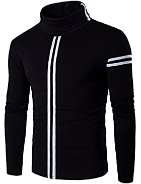 Hombre Cotton Camiseta de Manga Larga Long Sleeve T-Shirt Algodón Soft Style Casual Camiseta