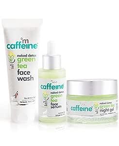 mCaffeine AM PM Routine | Dirt Removal, Hydration, Moisturization | Face Wash, Face Serum, Night Gel | All Skin | Paraben & SLS Free