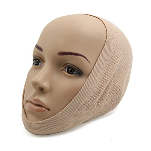 sourcingmap Gesichtsfarbe Stricken Komfort Gesicht Maske Schönheit Gesicht Haut Former Waage Band (Stricken-gesicht-maske)