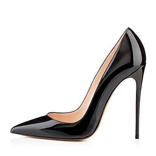 Caitlin pan Damen Pumps, Formelle Spitze Zehe Basic High Heels Slip Partyschuhe aus Leder Low Heel Slip
