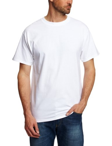 hanes-usa-beefy-t-t-shirt-uni-crew-manches-courtes-homme-blanc-blanc-m-taille-fabricant-m