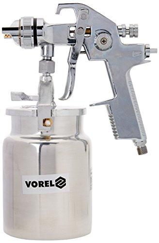 Vorel 80901-Der Garten-Spritzpistole mit Flüssigkeit 1000ml Tasse HVLP