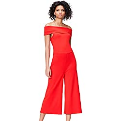 find. Combinaison Bardot Femme, Rouge (Racing Red), 38 (Taille Fabricant: Small)