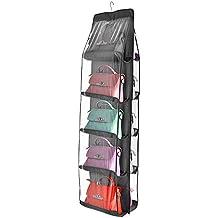 Top-Max de porte à suspendre support mural pour sacs à chaussures étagère de rangement avec crochets gris foncé