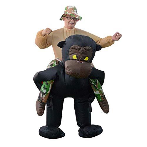 Gorilla Haarige Kostüm - YZERTLH Tierisches Aufblasbares Gorilla-Kostüm-Erwachsene Fahrt Auf