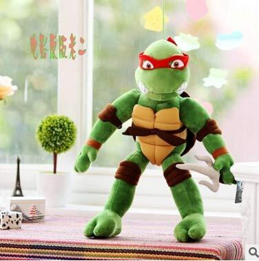 Xuniu Teenage Mutant Ninja Turtles Plüsch Puppe Spielzeug, weiche Plüschtiere Puppe Kinder Geburtstag Geschenke 28 cm