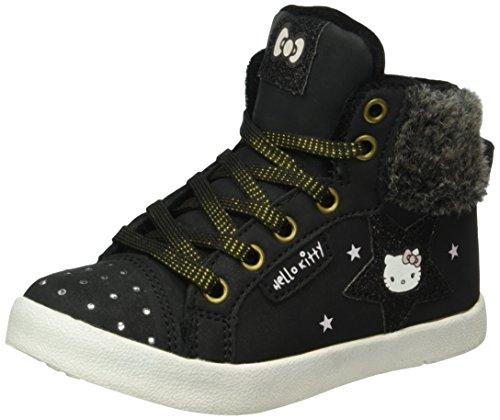 Hello Kitty Hk Fafia, Baskets Basses Fille Noir - Schwarz (Black (8))