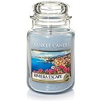 Yankee Candle 1507716E Bougie Parfumée Grande Jarre Escapade sur la Riviera Combinaison Bleu 10 x 9,8 x 14,7 cm 623 g