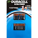 Duracell Ultra Power 16 AAA Piles + Testeur