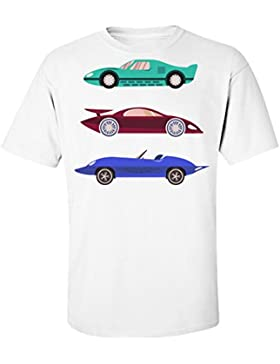 Three Colorful Retro Cars T-Shir