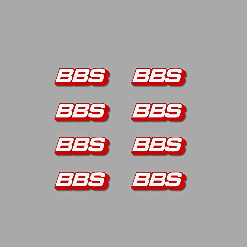 Ecoshirt CI-0TY2-ORGQ Aufkleber BBS Wheels Felge Am6 Stickers Aufkleber Decals Autocollants Adesivi, Weiß-Rot