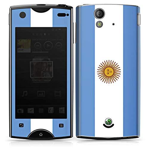 DeinDesign Folie kompatibel mit Sony Xperia Ray Aufkleber Skin aus Vinyl-Folie Argentinien Flagge Flag