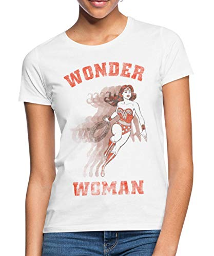 s Originals Wonder Woman Vintage Frauen T-Shirt, M (38), Weiß ()
