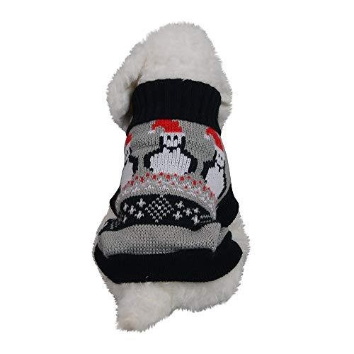 (GNYD Hund Haustier Weihnachten Winter Warm Turtleneck Sweater Coat Kostüm Bekleidung)