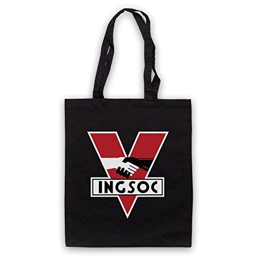 Inspiriert durch Nineteen Eighty-Four 1984 Ingsoc Political Party Logo Inoffiziell Umhangetaschen Schwarz