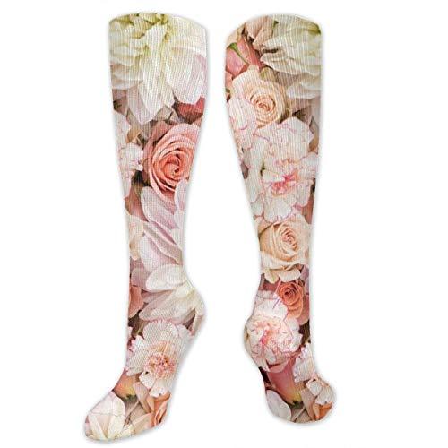 Socken für Damen, Herren, Mädchen, Blütenblätter, Rosen, Rosa -