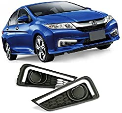 Automaze Car Fog Lamp Daytime Time Running Lights (DRL) For City 2014-2016 Models, 2 Pc set, Neon DRL