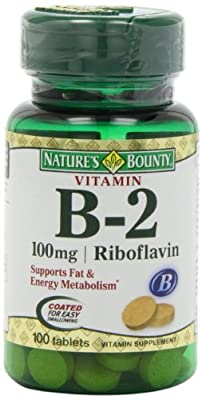 Nature's Bounty Vitamin B2, 100Mg, 100 Tablets (Pack Of 4) by Nature's Bounty