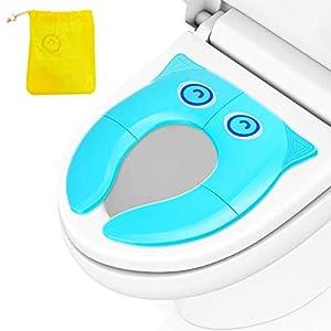 Asiento de Inodoro Plegable para Niños,Sinwind Tapa plegable wc niños,Adaptador wc niños portatil,Cubierta plegable…