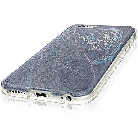Tribal 10001, Cristallino Custodia Protettiva in Gel Silicone Caso Ultra Sottile Copertura con Disegno Strutturato per Apple iPhone 7 Plus - Collezione Tribal