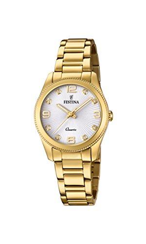 Festina Damen-Armbanduhr F20210/1 Damen-boyfriend-uhr-gold