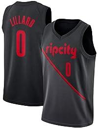 CRBsports Damian Lillard,Jersey De Baloncesto,Trail Blazers,City Edition, Nueva Tela