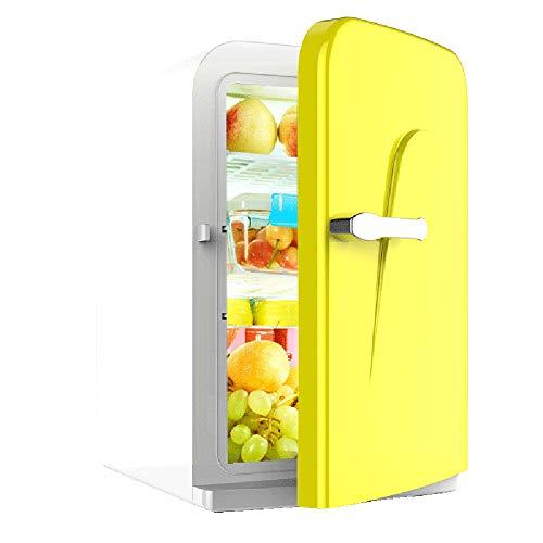 16L-Auto-Kühlschrank Compact Cooler Und Wärmer Car Home Dual Use Studentenwohnheim Muttermilch Gekühlt Mini-Kühlschrank, Gelb -