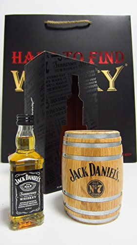 Jack Daniels - Old No.7 Miniature & Barrel Pen Pot Gift Set (Hard To Find Whisky Edition) - Whisky