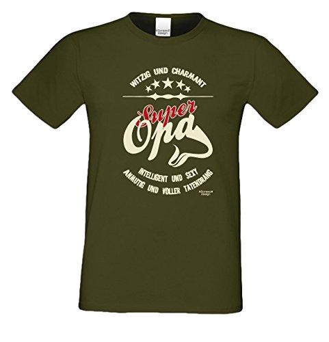 Geburtstagsgeschenk Opa Großvater :-: Herren T-Shirt als Geschenkidee :-:  Super