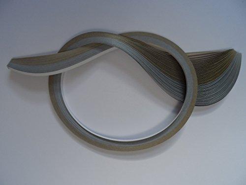 Past Times Quilling Papierstreifen 10mm, 60 Stück, silber/gold