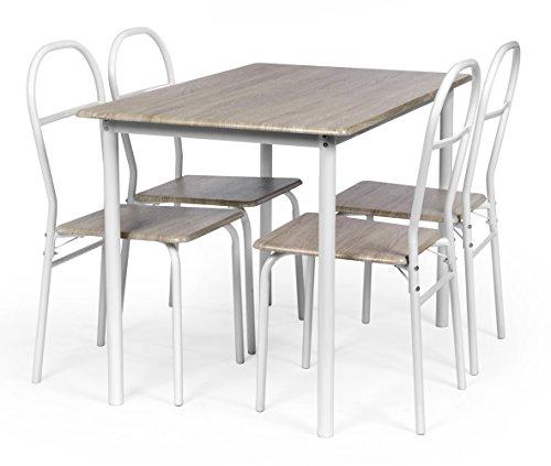 ts-ideen-Comedor-de-4-puestos-Mesa-de-cocina-con-Marco-de-Metal-Mesa-en-Fibra-de-Madera