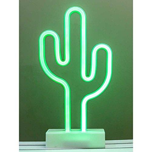 HAB & GUT (L232 Neon Kaktus LED Stehlampe Dekolampe Grün, batteriebetrieben