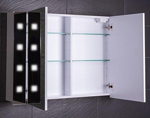Spiegelschrank Holz Galdem Cube, 100 cm - 3