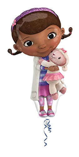 Amscan Anagram 2753501 - Party und Dekoration - Folienballon Super Shape - Disney Doc McStuffins und Lammy, circa 55 x 88 cm