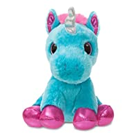 Aurora 60860 Sparkle Tales Moonbeam Unicorn Soft Toy, Turquoise, 7-Inch