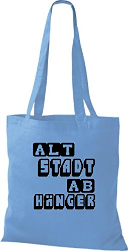 Shirtstown leur vieille abhänger humoristique inscriptions en plusieurs couleurs Bleu - Bleu clair