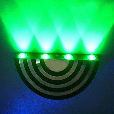 4W moderne Led applique murale avec diffusion Light Design UFO plaque demi-cercle, blanc chaud