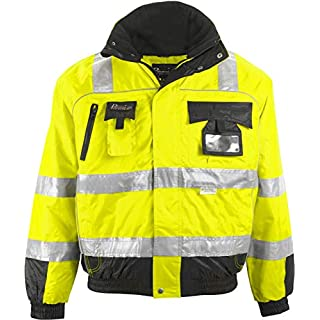 Asatex PTW-P XXL 78 Prevent Trend Line High Visibility Pilot's Jacket, Yellow/Black, 2X-Large