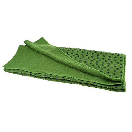 Toygogo Yogadecke rutschfest Yoga Handtuch Gymnastikmatte Schnelltrocknend Auflage mit Noppen 180 x 60 cm