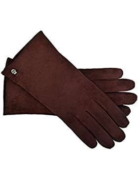 Roeckl Handschuhe Classic Kaschmir Veloursleder Damen Bordeaux
