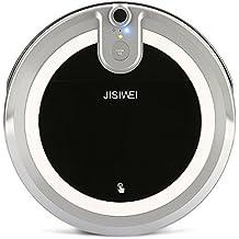 JISIWEI I3 Robot Aspirador Inteligente, Con Caja de Polvo de 600 ml, Depósito de Agua de 280 ml, con Cámara y Control Remoto de App, de Color Gris