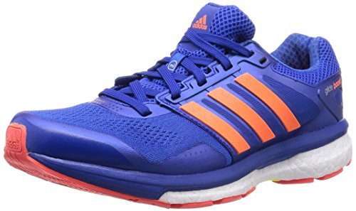 adidas Men's Supernova Glide Boost 7 M Blue, White and Solar Yellow Mesh Running Shoes - 7 UK  available at amazon for Rs.8399