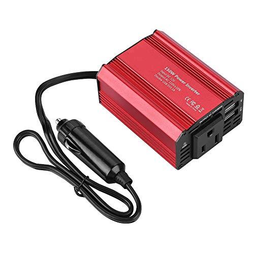 ler,150W Dual USB Wechselrichter,12V DC auf 110V AC Power Inverter für Feldarbeit/Autofahren/mobiles Büro/Stromausfall mit Spwm Chip Technologie ()
