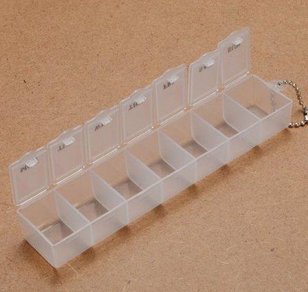city-7-jours-petite-boite-a-pilules-plastique-medicament-portable-poche-pilulier-rangement-blanc