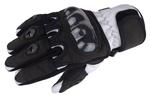 Bangla 5000 Motorradhandschuh Motorrad Handschuhe Sommer Schwarz weiss XS