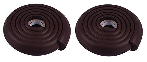 Lifestyle-You™ Child Safety Strip Furniture Corner Guard For Child Proofing (Pack of 2) (Dark Brown)