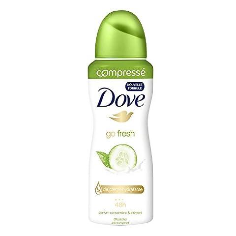 Dove Déodorant Femme Spray Anti Transpirant Go Fresh Concombre 100ml - Lot de 2