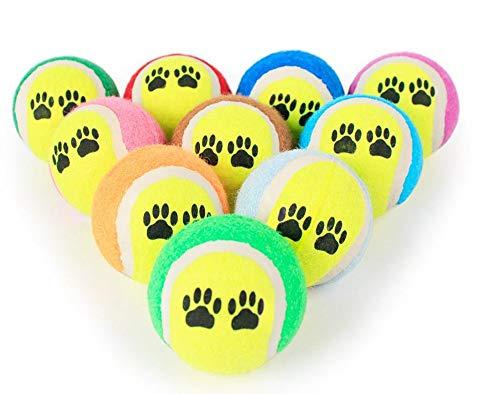 Hpybest Tennisball für Hunde, Kauspielzeug, Ball für kleine Hunde, Cricket-Welpen, Spielzeug, Spielzeug, Spielzeug, Spielball für Hunde und Haustiere, 5 Stück