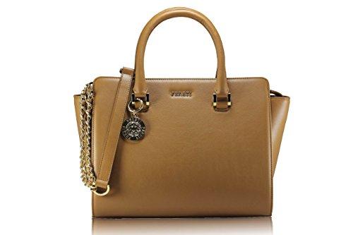 FERETI borsa per donna marrone chiaro vera pelle originale FERETI®
